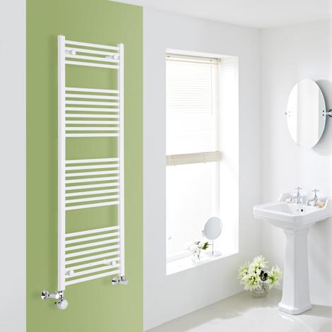 Sèche-Serviettes Design Mixte – Blanc – 150 x 50cm Plat – Etna