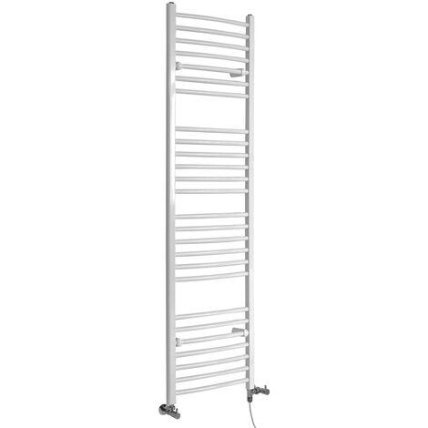 Sèche-Serviettes Design Mixte – Blanc – 180 x 50cm Incurvé – Etna
