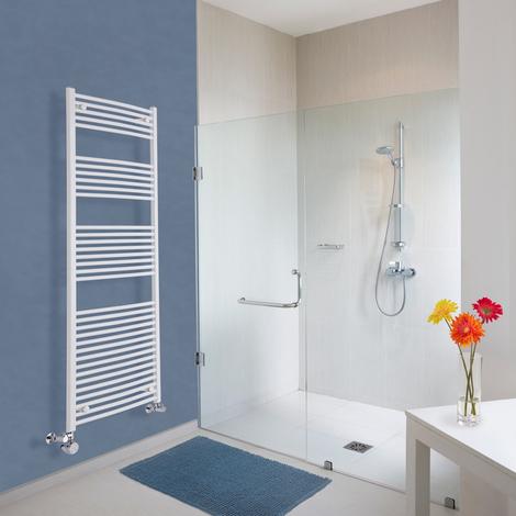 Sèche-Serviettes Design Mixte – Blanc – 180 x 60cm Incurvé – Etna