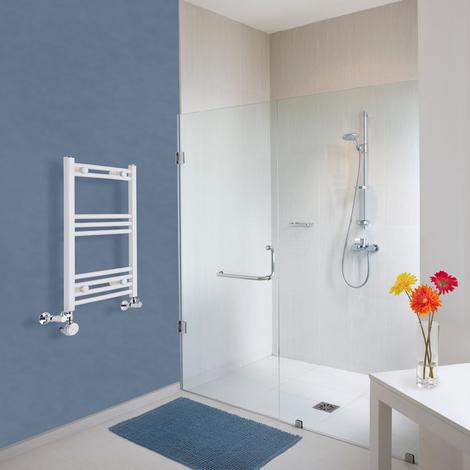 Sèche-Serviettes Design Mixte – Blanc – 70 x 40cm Incurvé – Etna