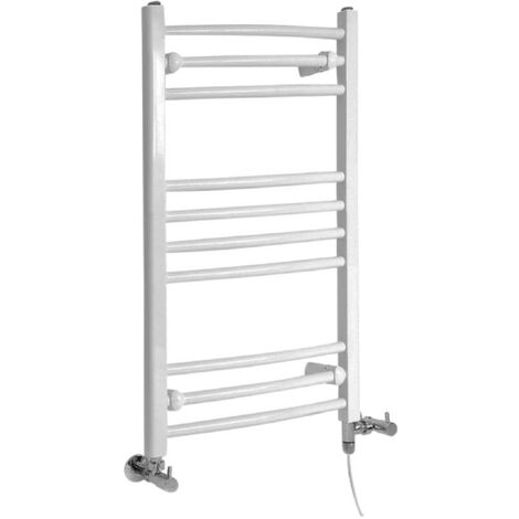 Sèche-Serviettes Design Mixte – Blanc – 80 x 50cm Incurvé – Etna