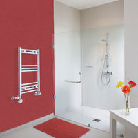 Sèche-Serviettes Design Mixte – Chrome – 70 x 40cm Incurvé – Ischia