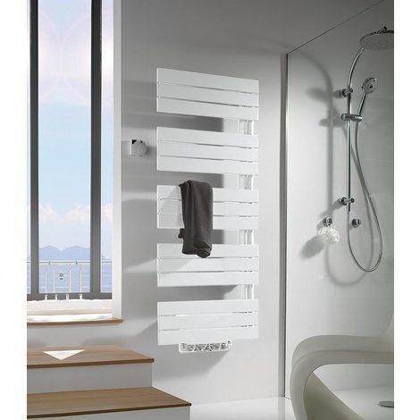 Sèche-serviettes eau chaude ARBORESCENCE 855W gauche avec soufflant Speed'Air