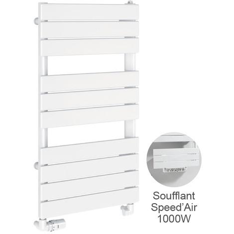 Agreable Sèche Serviettes électrique Acier CHORUS BAINS 1250W + Soufflant Speedu0027Air