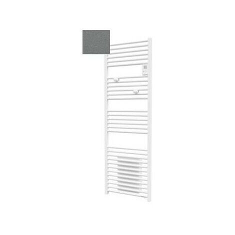 Sèche-serviettes électrique Riva 4 - 500 + 1000W - Avec soufflerie - Gris menhir
