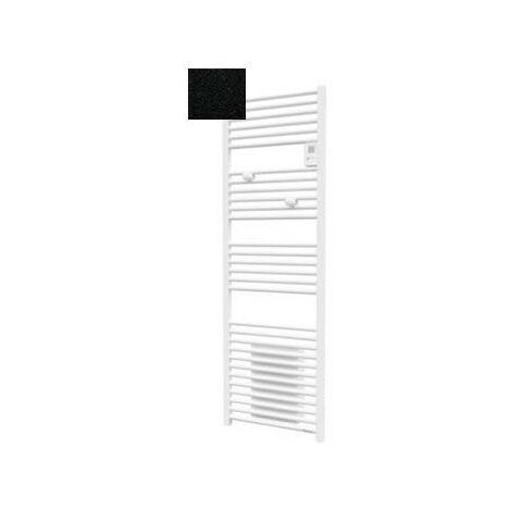 Sèche-serviettes électrique Riva 4 - 500 + 1000W - Avec soufflerie - Noir carbone