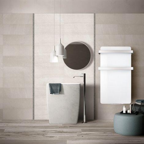 Sèche-serviettes en verre extra plat blanc Hércules-15 - 1000W