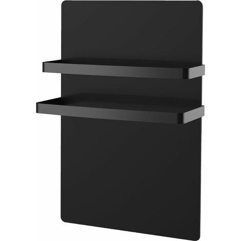 Sèche-serviettes façade en verre trempée noir - chauffe rapide - détection d'ouverture de fenêtre - VOLTMAN - 1000W 10,5kg IP24 NF CE - Noir