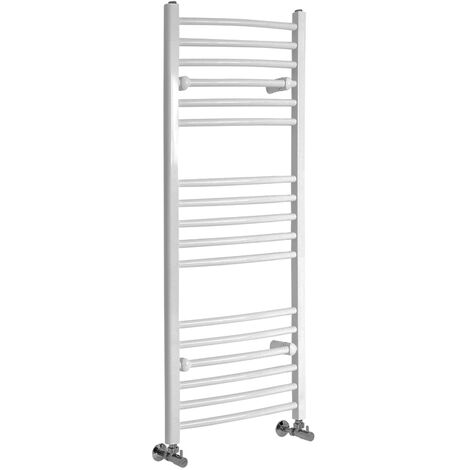 Hudson Reed Ive - Sèche-Serviettes Design Moderne Incurvé - Blanc - 120 cm x 49,8 cm