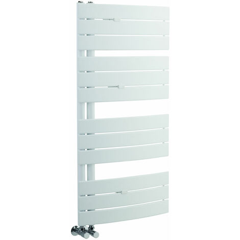 Sèche-Serviettes Incurvé Blanc Elgin 108cm x 55cm x 11,5cm 500 Watts