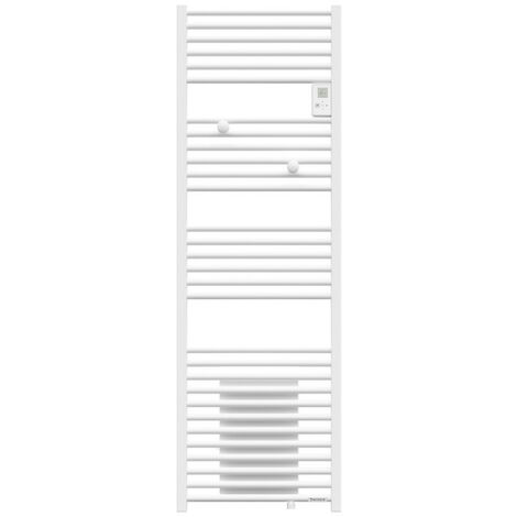 Sèche-serviettes Riva 4 mixte avec soufflerie 1500W blanc satin (471262)
