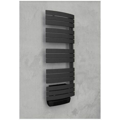 Sèche-serviettes série Lise - Electrique - Avec soufflerie - 700+1000W - Anthracite