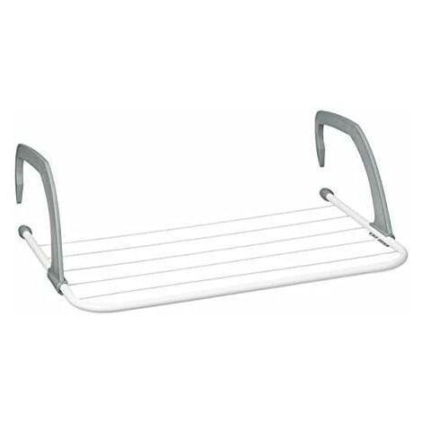 Séchoir à linge - Étendoir à suspendre pour radiateur et balcon, petit format, grande capacité d'étendage de 3 m, blanc