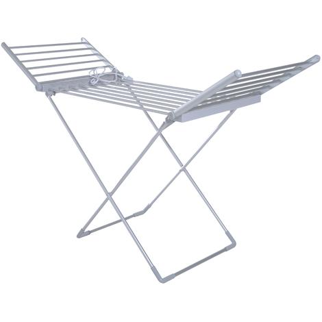 s choir tendoir linge lectrique chauffant pliable 20. Black Bedroom Furniture Sets. Home Design Ideas