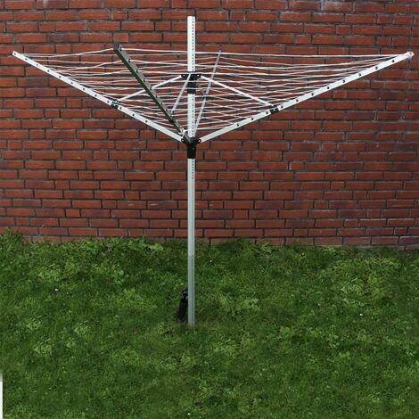 Séchoir-parapluie Sèche-linge extérieur en aluminium Étendoir Pliable Réglable en hauteur Camping