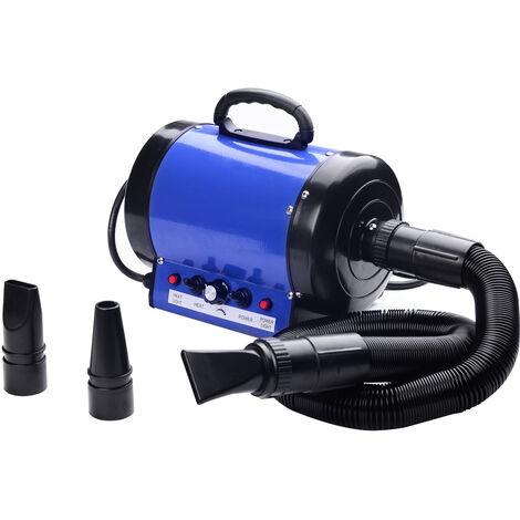 Sechoir professionnel seche-poils toilettage pour chiens chats animaux 2800 W - Bleu