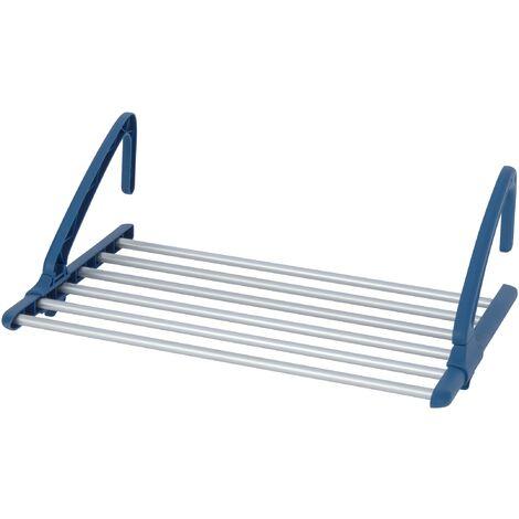 Séchoir radiateur télescopique, séchoir balcon extérieur, aluminium, 57-106x21x37,5 cm