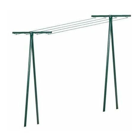 Séchoir tube acier bg peinture verte