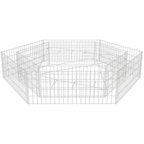 Sechseckiges Gabionen-Hochbeet 200x173x40 cm