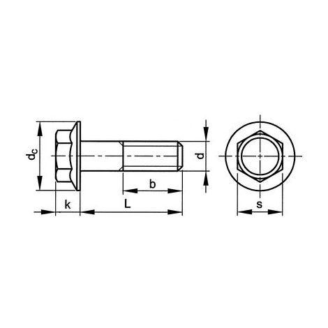 Sechskantschrauben mit Flansch 6 mm DIN 6921 6 x 40 Edelstahl A2 25 Stk