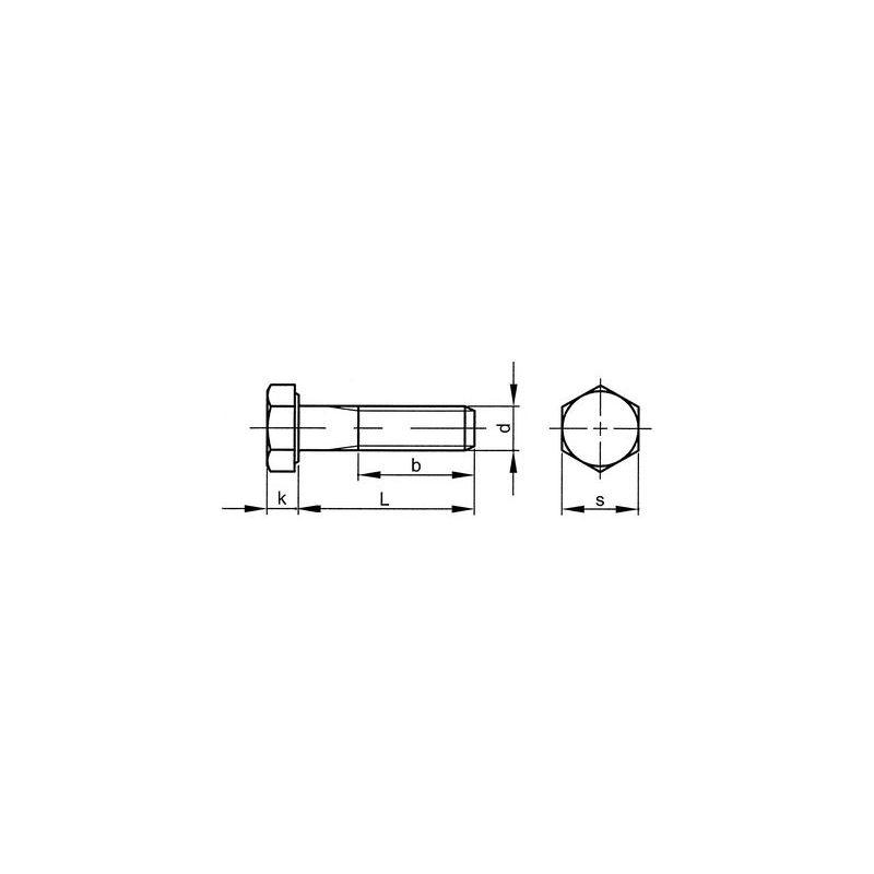 Sechskantschrauben M27 x 120 Stahl feuerverzinkt 8.8 DIN 931 10 Stk