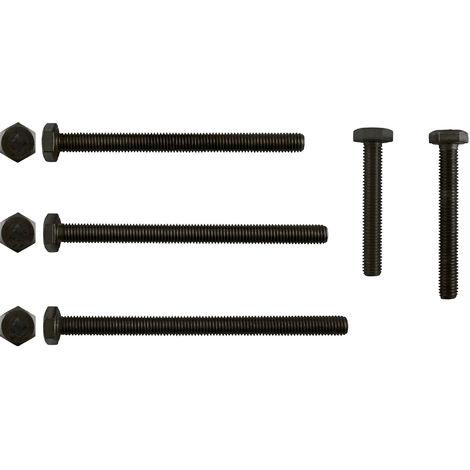 100 Edelstahl V4A Sechskantschrauben ISO 4017 A4 M5x12