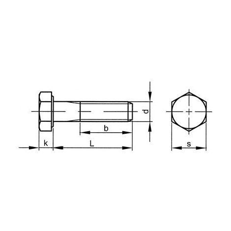 Sechskantschraube m Kopf 8.8 Stahl gal zn M3x6-500 St/ück Box Gewinde b