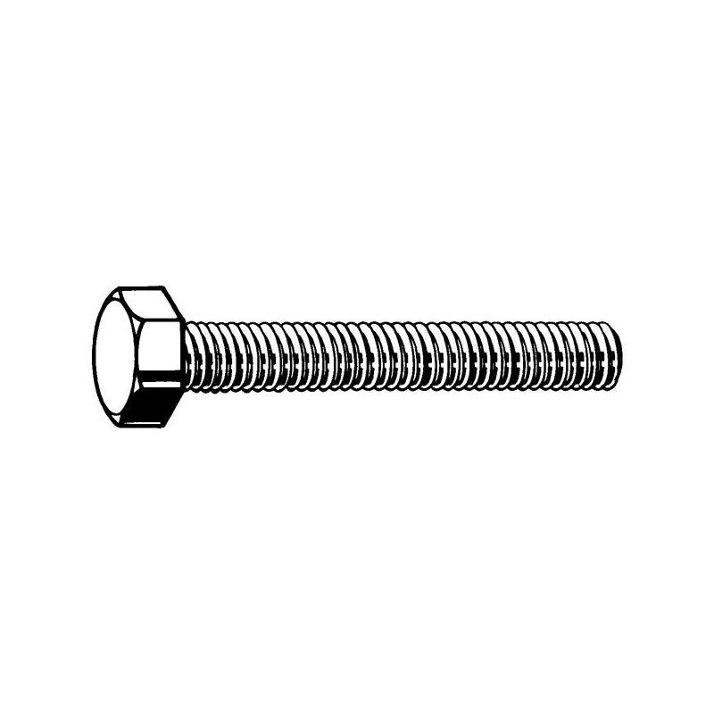 10 Stk Sechskantschraube DIN 933 8.8 M5 x 40