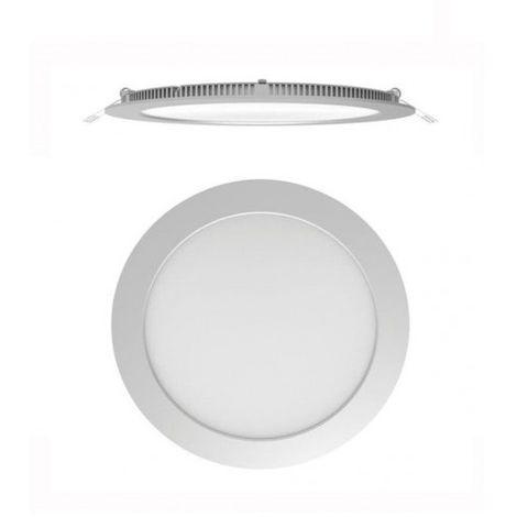 Secom 4296 08 52 84 - Micro Punto Aircom LED circular 8W 4000K 920lm IP44 - empotrada - Mat Chrome