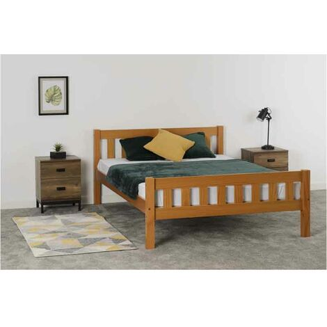 "main image of ""Seconique Carlow Pine Single Bed 4ft6 135cm Solid Antique Pine"""