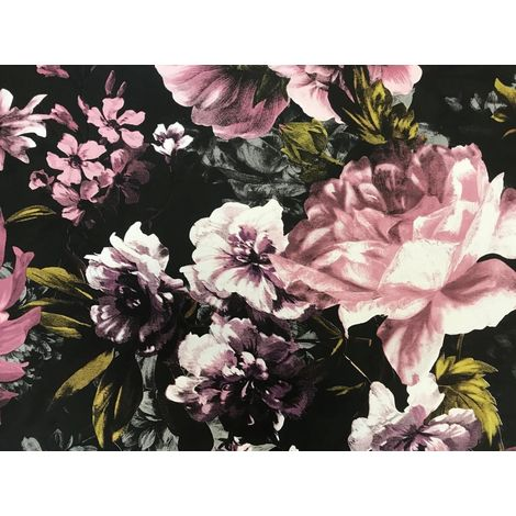 Secret Garden Pink Black Wallpaper Grandeco