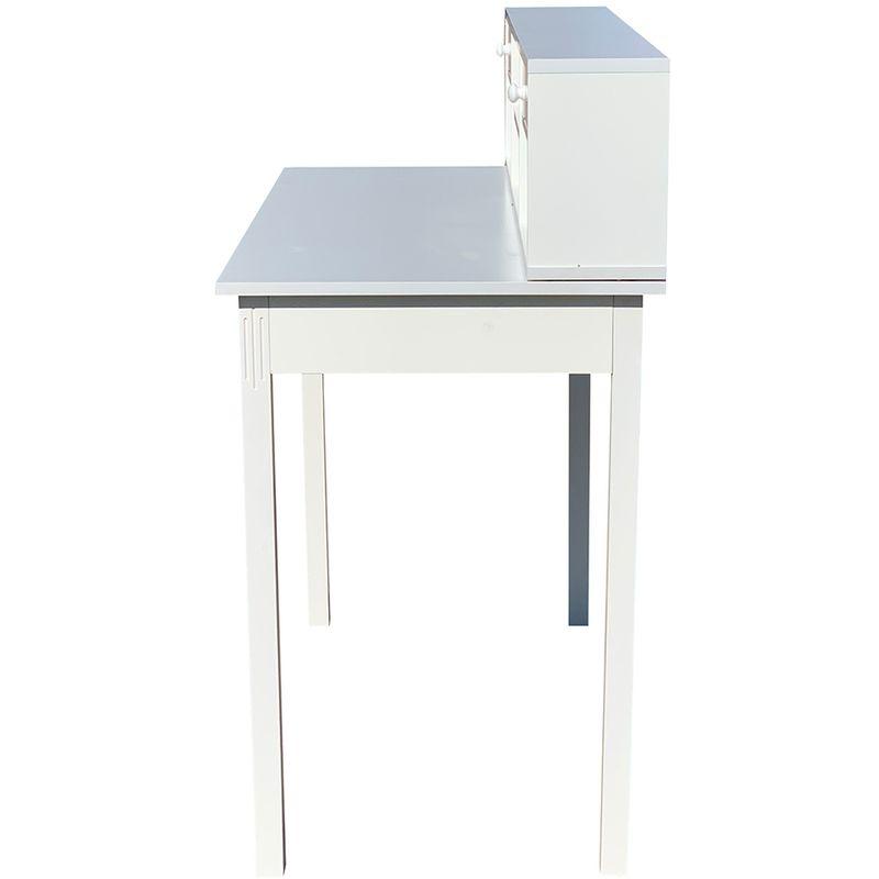 Secrétaire Blanc Bureau écriture commode console table bureau maison de campagne