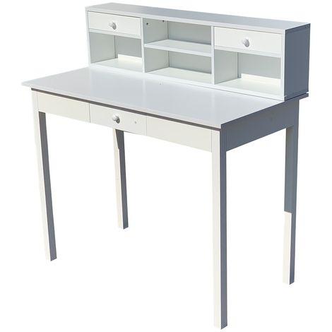 Secrétaire, bureau, maison de campagne, bureau console, table de bureau