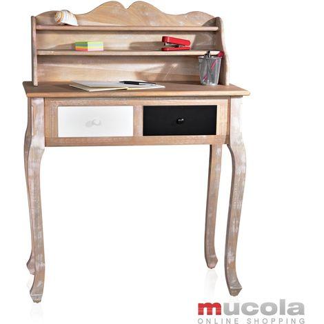 """Secrétaire, bureau, table, Commode à l'allure """"shabby""""+ deux tiroirs anciens"""
