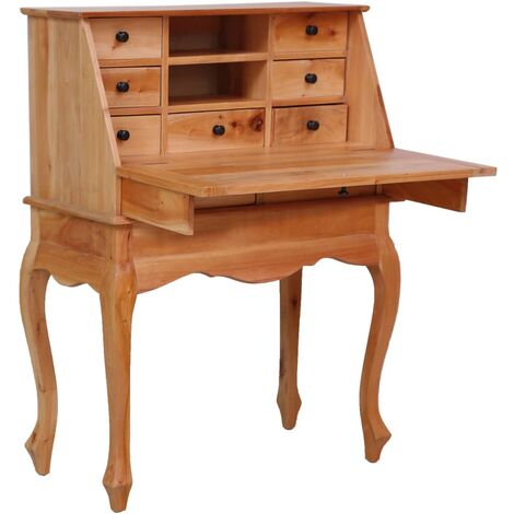 Secretary Desk 78x42x103 cm Solid Mahogany Wood