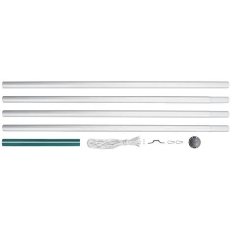 Sectional Flagpole Aluminium 6.2 m