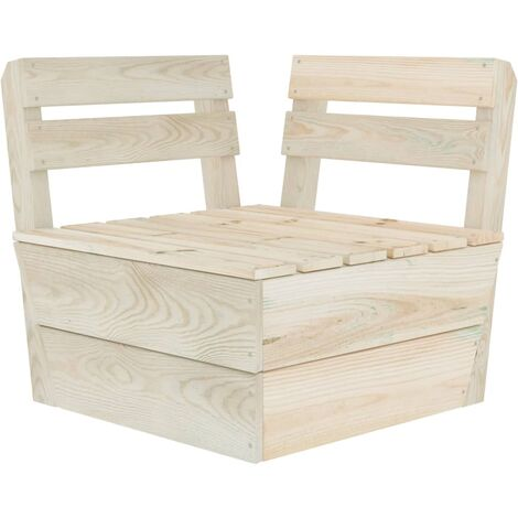 Sectional Pallet Corner Sofa Impregnated Spruce Wood