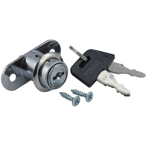 SECTOTEC Schiebetür-Druckzylinder Ø 21,5 mm | Zylinder-Druckschloss | Schiebetür-Schloss | Schiebetür-Zylinder | 1 Garnitur