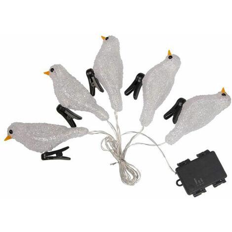 """main image of """"Secuencia de acrilico para lampara de pajaro, Lampara decorativa de vacaciones LED, Impermeable IP44,blanco"""""""