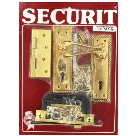 Securit DP7100 Georgian External Door Pack Pack Of 1 Set