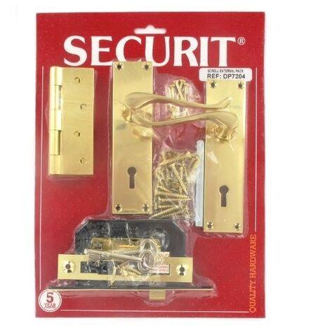 Securit DP7204 Scroll External Door Pack Pack Of 1 Set