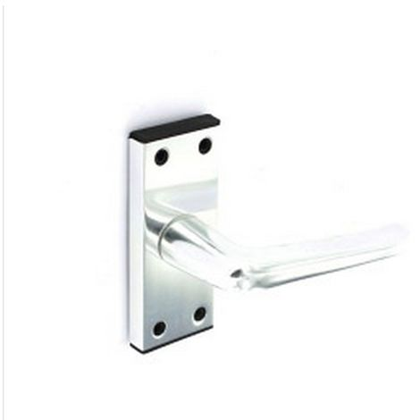 Securit Latch Door Handles (10cm) (Silver)