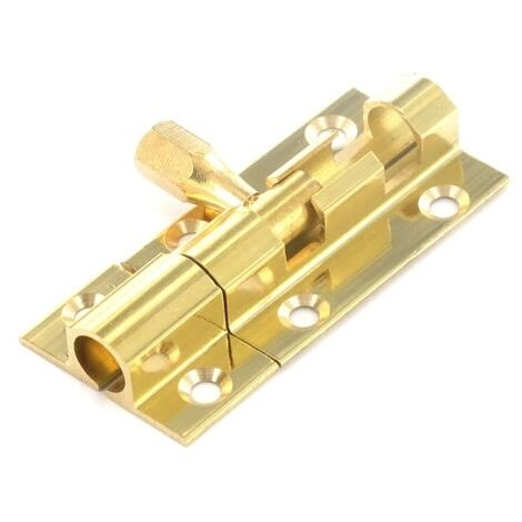 "Securit S1521 Brass Door Bolt 1"" Wide 38mm Pack Of 1"