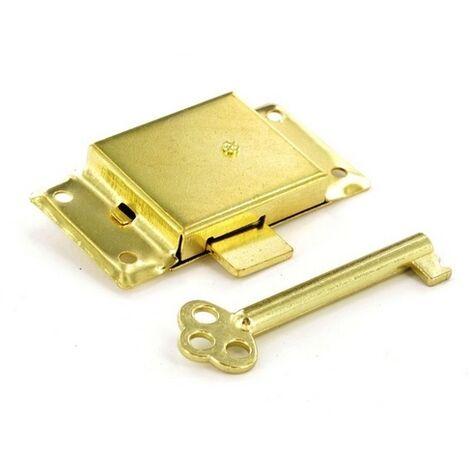 Securit S1672 Cupboard Lock 2 Keyed Electro Brassed 63mm Pack Of 1