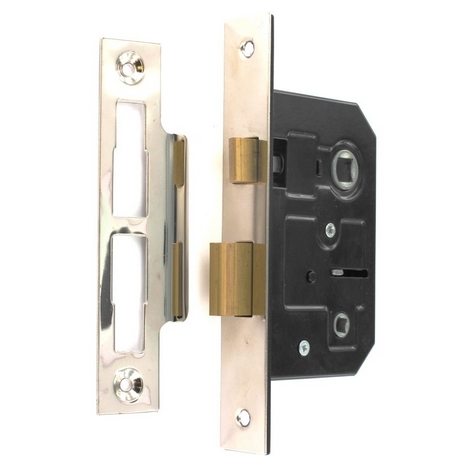 "main image of ""Securit S1836 Bathroom Lock Nickel Plated 63mm Pack Of 1"""