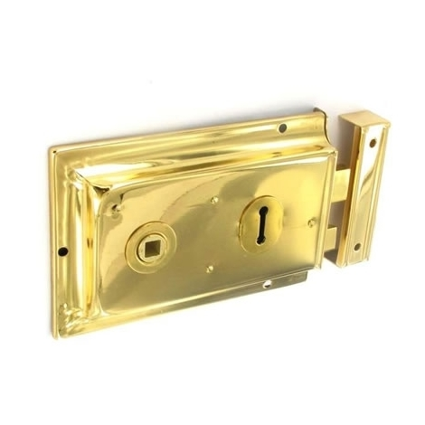 Securit S1840 Double Handed Rim Lock Brass Plated 150mm Pack Of 1