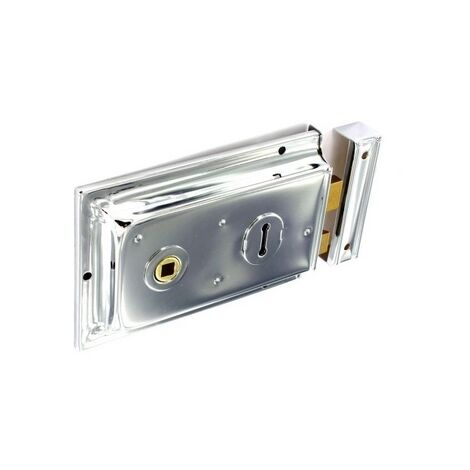 Securit S1862 Double Handed Rim Lock Chrome 150mm Pack Of 1