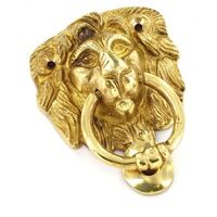 Securit S2272 Brass Lion Head Knocker Face Fix 100mm Pack Of 1