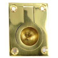 Securit S2650 Brass Flush Ring Handle 50mm Pack Of 1