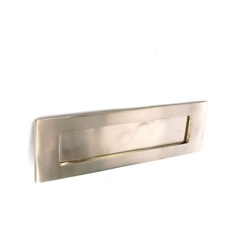 Securit S2745 Nickel Letter Plate 250mm Pack Of 1